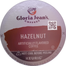 Gloria Jeans Coffees Hazelnut Flavored Medium Roast Coffee K-Cup