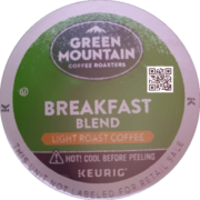 Green Mountain Coffee Roasters Breakfast Blend Light Roast Coffee K-Cup