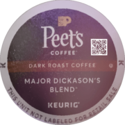 Peet's Coffee Major Dickason's Blend Dark Roast Coffee K-Cup