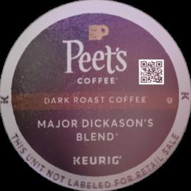 Peet's Coffee Major Dickason's Blend Dark Roast Coffee K-Cup