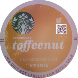 Starbucks Toffeenut Flavored Medium Roast Coffee K-Cup